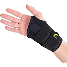 Bracoo Wrist Brace, Reversible Hand Splint for Carpal Tunnel, Wrist Pain & Sport Injury- Adjustable, Customized Fit & Comfortable Padded Lining, Guardian (WB30), 1 Count