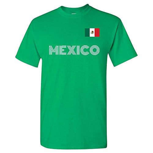 UGP Campus Apparel Mexico Soccer Jersey - Mexican International Futbol Team T Shirt - 3X-Large - Green