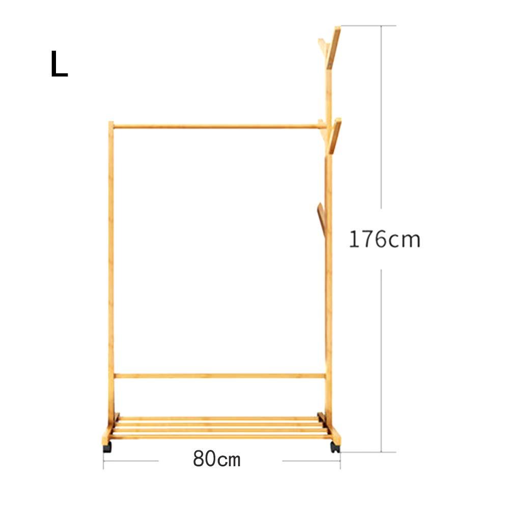 Large AO-Hook Coat Rack Floor Bedroom Simple Household Hanger Multi-Function Mobile Storage Economy (Size   XL)