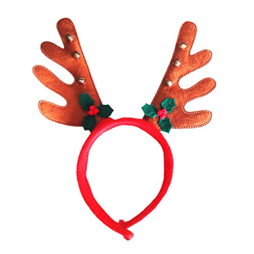 EITC Christmas Headwear Antlers Head Band Unisex Hoop With Bells