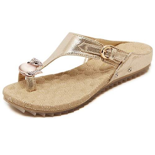 Mujeres Cristal Ducha Verano Goma Con Punta Y Livianos Para Sandalias Playa Abierta Zapatos Flop Blandas c Planas De Flip Mujer F4TqgOAn
