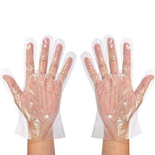 S2S Transparent Disposable Clear Plastic Hand Gloves 200Pcs (100 Pair) Price & Reviews