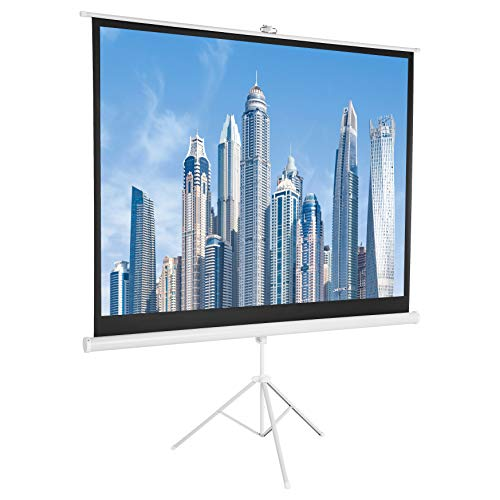 AmazonBasics 4:3 Portable Projector Screen – 100 Inch, White