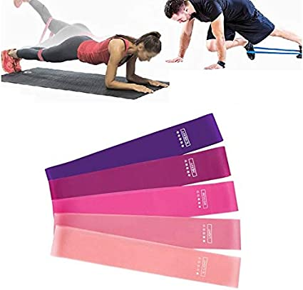 5x Resistance Loop Bands Elastic Band Equipment for Gym Yoga Fitness Training