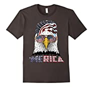 Merica Patriotic Bald Eagle Funny T Shirt
