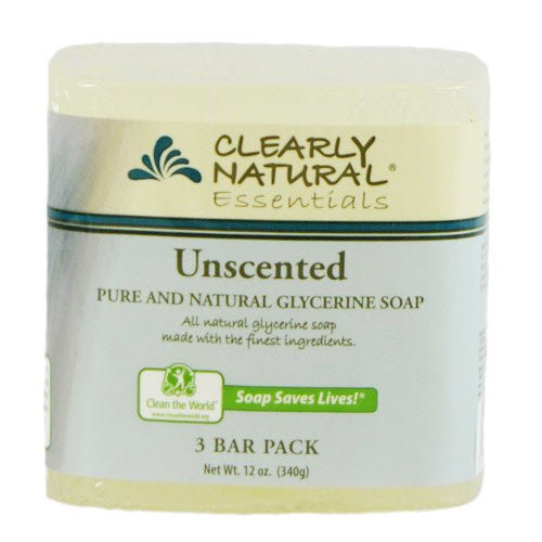 Clearly Natural Glycerine Bar Soap, Unscented, 3 Count, 4 oz (Clearly Natural Bar Soap)
