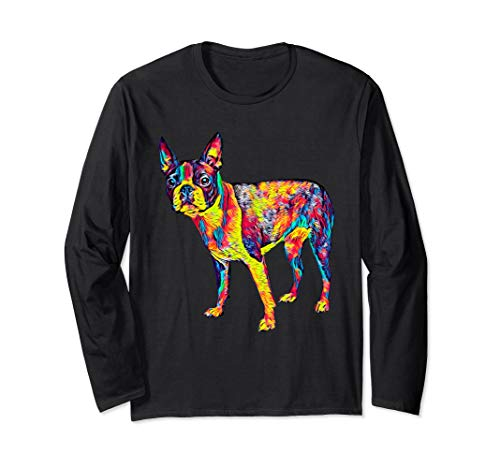 Boston Terrier Breed Dog Long Sleeve T-Shirt