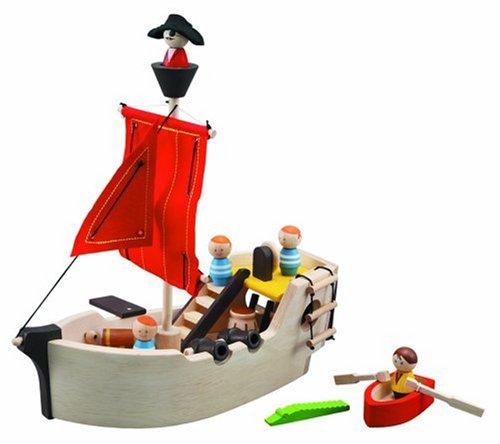 Colore Legno 6105 Plan Toys Pirate Ship