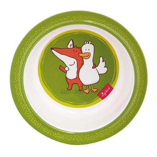 Sigikid Melamin Geschirr-Set Fuchs Forest gr/ün Taufgeschenk Geschenkidee Geburtstag gr/ün