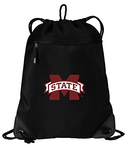 MSU Bulldogs Drawstring Bag Mississippi State University Cinch Pack Backpack UNIQUE MESH & MICROFIBER
