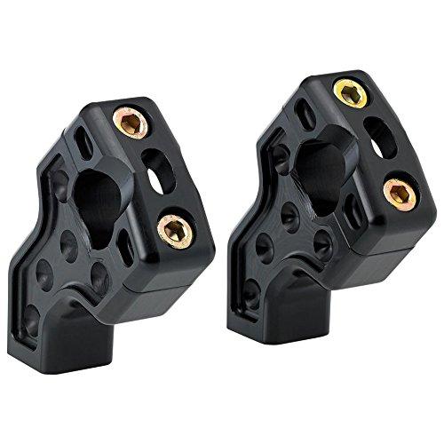Joker Machine Black Dual Pullback Handlebar Risers 03-866B