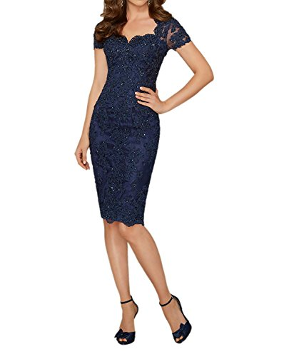 GMAR Short Sleeves Evening Dresses Beaded Lace Bodycon Mother of the Bride Dress