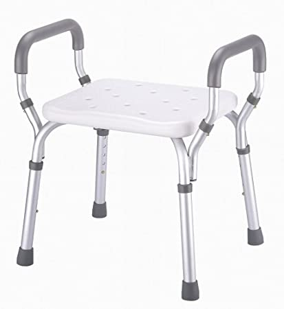 Amazon.com: Essential Medical Molded Shower Bench with Arms (No ...