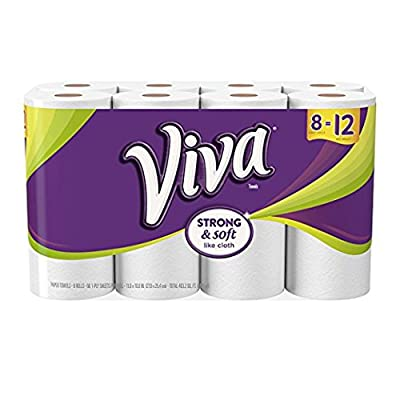 Viva 10036000114178 Giant Roll Paper Towel, White, 27.925.4 cm, 8 Rolls