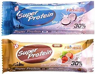 SUPER PROTEIN BAR 50 g COCO (25 Uds.) - Suplementos ...