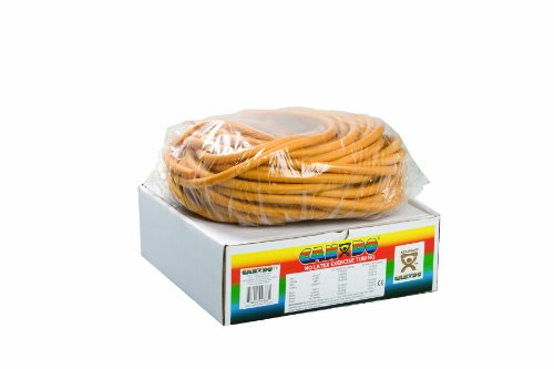 CanDo 10-5727 Latex Free Exercise Tubing, 100' Dispenser Roll, Gold-XXX-Heavy (Gold Tubing)