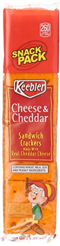 Keebler Cheese & Cheddar Sandwich Crackers Snacks, 1.8 Ounce Packages  (Pack of 12) (Crackers Snacks Cheese)