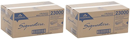 Georgia Pacific Professional 23000 C-Fold Paper Towels, 10 1/10 x 13 1/5, White, 120 Per Pack (2 Case of 12 Packs) by Georgia-Pacific