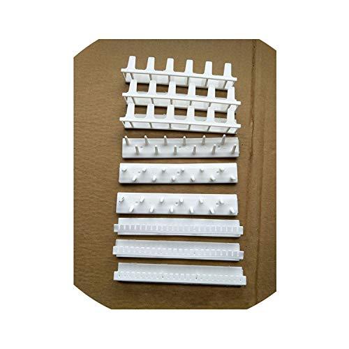 9Pcs/Set Adhesive Jewelry Display Hanging Ring Hanger Rack Sticky Hooks Storage Organizer Display Stand,White