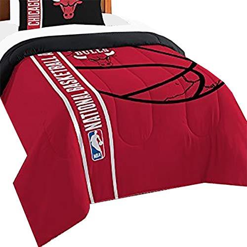 Northwest 2pc NBA Chicago Bulls Twin Comforter and Sham Set Silhouette College Logo Bedding