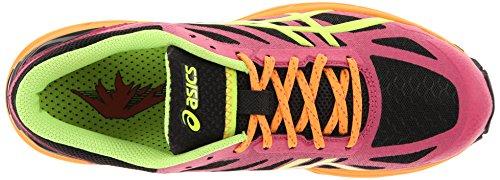 Asics Womens Gel-fujipro Scarpa Da Running Onyx / Flash Giallo / Rosa Caldo