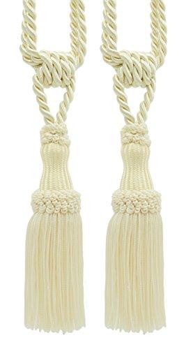 Pair Of Premium Ivory Decorative Chainette Tiebacks, 5