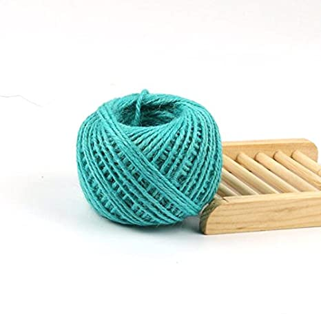 JUN 2mm Colourful Jute Twine Hemp Cord String for Gift Packing, Bohemia Macrame DIY Wall Hanging Plant Hanger Craft Making Knitting Cord Rope (100m/color, 1 colors) JUN Store