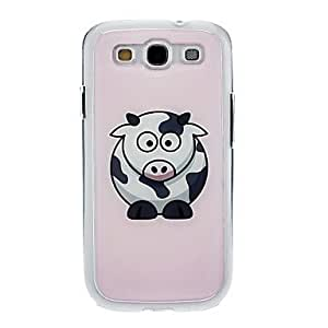 LZX Cutty Dairy Cattle Drawing Pattern Neutral Stiffiness Silicone Gel Back Case Cover for Samsung Galaxy S3 I9300
