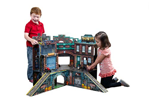 ReadySetz Detailed Graphics Play Set and Diorama - No Assembly, Foldable and Recyclable - Great for Toy Photography and Hours of Fun - Play Big, Store Small - Urban 2.0 by ReadySetz (Image #9)