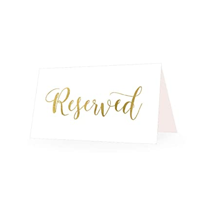 Amazon 25 Gold Vip Reserved Sign Tent Place Cards For Table At