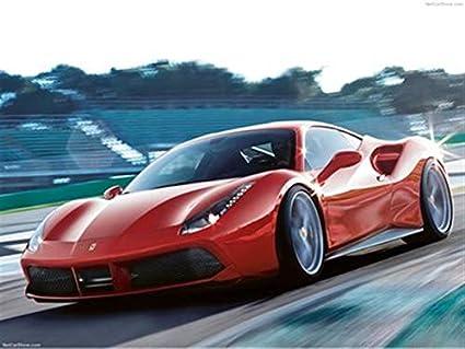 Amazon De Cars Print Posters Ferrari 488 Gtb 2016 Poster 46 X 61 Cm Ferrari 488 Gtb 2016 Druck