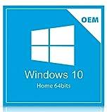 Sistema Operacional Microsoft Windows 10 Home, versão 64bits, Português, OEM, licença para 1 computador, mídia física em DVD.