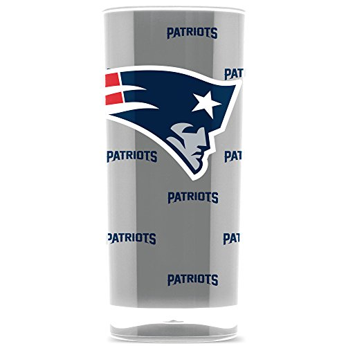 NFL New England Patriots 16oz Insulated Acrylic Square Tumbler ()
