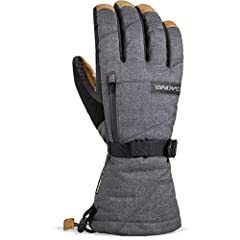 From icy East Coast resorts to the wilds of Montana, keep your hands toasty with the new Dakine Men's Leather Titan Gore-Tex Glove. Dakine added a leather palm to the ever-popular Titan glove for greater durability and enhanced dexterity. Hig...