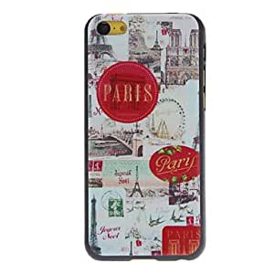 QJM Charming Scenery of Paris Pattern Hard Case for iPhone 5C