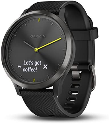 Garmin vivomove HR Hybrid Smart Watch (Large) - Black with Black Band