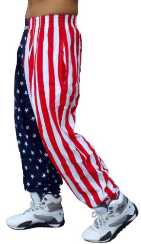 Best Form American Flag Pants (L, American Flag)