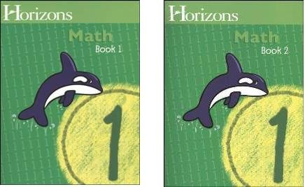 Horizons Math 1 SET of 2 Student Workbooks 1-1 and 1-2 by Horizons