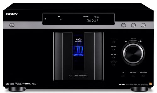 Sony BDP-CX7000ES 400 Blu-ray Disc Mega Changer (Black) (2009 Model) by Sony