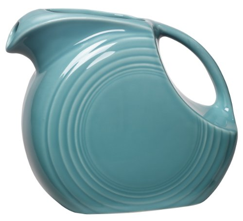 Fiesta 67-1/4-Ounce Large Disk Pitcher, Turquoise