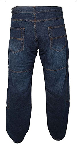 Newfacelook Hommes Motorcycle Moto Pantalon Motards Jeans Renforcée Aramide Protection color Bleu size