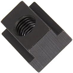 1018 Steel T-Slot Nut, Black Oxide Finis...