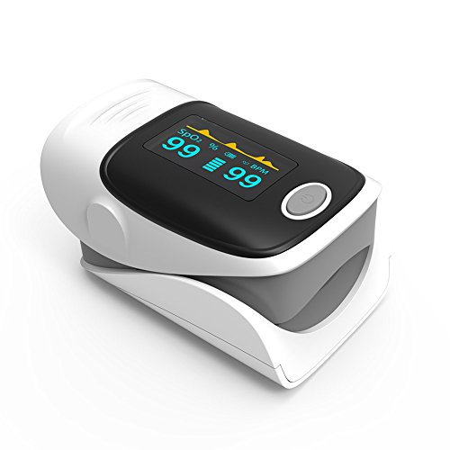 Pulse Oximeter Fingertip Oxygen Monitor SpO2 and Pulse Rate Sensor with OLED Display in 4 Directions and 6 Modes Yonker YK-80 - Gray