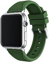 Apple Watch Band, Topsic morbido silicone strap sport fascia di polso di ricambio per Apple Watch 42mm Series 12e 3