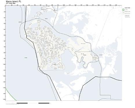 Map Of Marco Island Florida.Amazon Com Zip Code Wall Map Of Marco Island Fl Zip Code Map Not