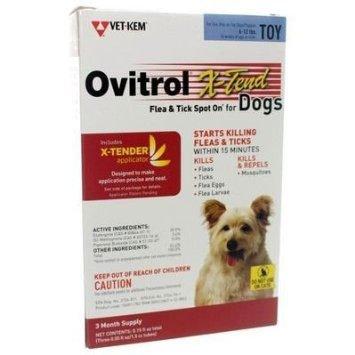 Vet-Kem Ovitrol 3-Pack X-Tend Pest Control Spot on for Dog Toy, 6 to 12-Pound