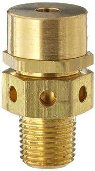 "Kingston 128A Series Brass Low Profile Safety Valve, 75 psi Set Pressure, 1/8"" NPT Male"