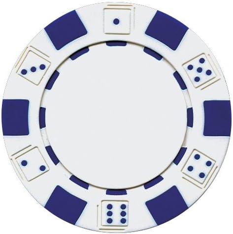 NEW 900 Piece Striped Dice 11.5 Gram Poker Chips Bulk Lot Pick Colors