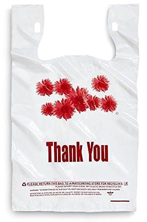 1000 unidades de bolsas para tiendas, con texto en inglés ...