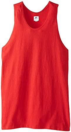 Russell Athletic Men's Basic Cotton Tank Top, True Red, XXX-Large